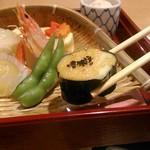 美濃吉 - [料理] 京弁当 上段 焼き物 アップ♪w ②