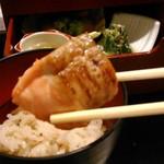美濃吉 - [料理] 京弁当 上段 焼き物 アップ♪w ①