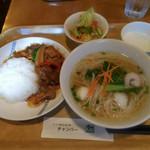 チャンパー - 日替わりランチセット(白身魚のタマリンドソース炒め)
