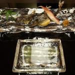 湖里庵 - 子持ち鮎の塩焼き