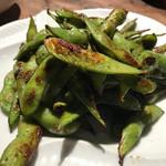 お食事処 炉里庵 - 枝豆のオリーブオイル焼き