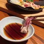 鶏ノ屋 - 鶏ノ屋(東京都目黒区上目黒)松コース(7品)・刺身~鶏のたたき
