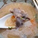 出合茶屋 - 出合茶屋@河津七滝 猪汁の猪肉