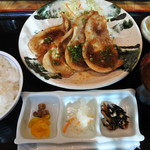 59044216 - 豚の生姜焼き定食(1400円)