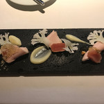 59044371 - 美桜鶏のハムと一本釣り鱈のタラコ