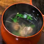 大森 野田岩 - 松定食:肝吸い