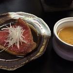 石廊館 - 金目鯛の煮付けと具沢山グラタン茶碗蒸し
