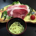 石廊館 - 函南産もち豚と色々野菜の胡麻豆乳しゃぶしゃぶ