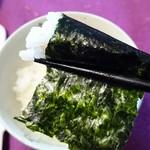 寿司海苔問屋 田庄 - ご飯を巻くように