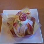 ブルージュ・プリュス - 苺のモンブラン