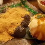 ちゃ味道楽 - デザートの手作りわらび餅&黒蜜アイス