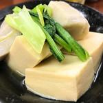 立呑み りえ。 - 高野豆腐と、里芋の煮込み?