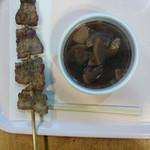 59053965 - 富士桜ポーク串焼き+豚汁のセット