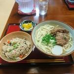ふくぎ - ソーキそば(大)&じゅうしぃ