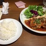 59057851 - 日替わりランチ(燻製鶏胸肉のロースト)