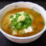味の花 - お豆腐に山芋、味の花特性のダシをかけて頂きます。