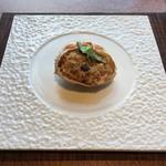 星龍 - ズワイ蟹と松茸の甲羅詰めおこわ