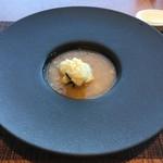 星龍 - 海鮮茶巾包み・フカヒレ上海蟹味噌餡かけ