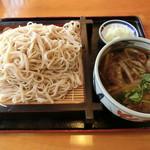 吹上のやぶ - 料理写真:イベリコ豚汁つけそば750円+そば大盛り150円
