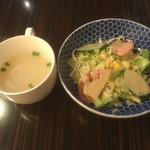 インドカレー ナマステ ポカラ - セットのサラダ&スープ