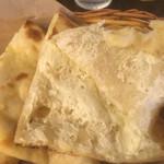 インドカレー ナマステ ポカラ - クリームチーズナンの中身