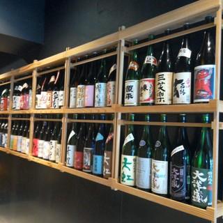 圧巻!全47都道府県の純米酒が130種類超、揃っています!