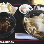 花音里 - 肉汁うどん(川幅) 天ぷら付