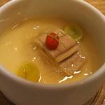 hakatahotaru - お通しの茶碗蒸し 感動した!