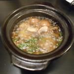 キアンキャバブ - えびとマッシュルームのアヒージョ