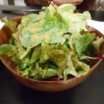 キアンキャバブ - グリーンサラダ