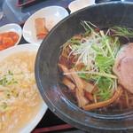 シロクマ - 「選べる麺セット」醤油ラーメン+蟹あんかけ炒飯(レギュラー)