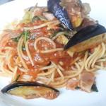 プリマベーラ - 料理写真:揚げ茄子とベーコンのトマトソース
