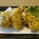 和食レストランとんでん - 牡蠣の天ぷら