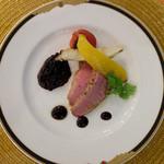 リストランテ・ベニーレベニーレ - 「鴨胸肉のタリアータ古代米のリゾットを添えて」