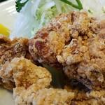 まんじ - 鶏の竜田揚げ定食 2016.11