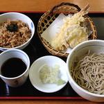 酒とそば まるき - 天ぷらセット