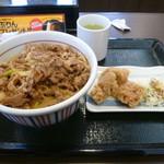 なか卯 - 和風牛丼 唐揚げ