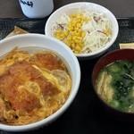 なか卯 - カツ丼サラダセット