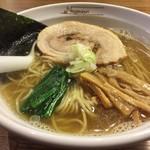 らーめんNageyari - 鯖節そば 塩                             細麺をチョイス☆。.:*・゜