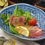 ゆふいん湯めぐりホテル 山光園 - ■洋皿:和牛たたきのサラダ