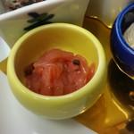 ゆふいん湯めぐりホテル 山光園 - 前菜の「海月梅肉和え」