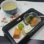 ゆふいん湯めぐりホテル 山光園 - ■甘味:洋菓子、果物盛り合わせ