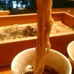 地酒とそば・京風おでん 三間堂 - [料理] 韃靼(だったん)蕎麦 麺のアップ♪w