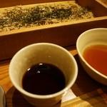 地酒とそば・京風おでん 三間堂 - [料理] 韃靼(だったん)蕎麦 & 蕎麦つゆ