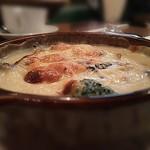 59088054 - チキンとキノコのクリーム煮グラタン風