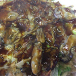 お好み焼 三笠 - 牡蠣が何個入ってるのだろう?カキづくし。