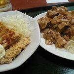 中華東秀 - 鶏からタルタルとしょうが焼き