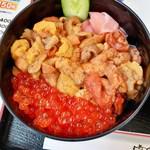 食事処 魚屋の台所 - 「ウニ・イクラ丼」3,000円