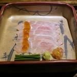 御料理 光安 - 昆布〆の白甘鯛(シラカワ)