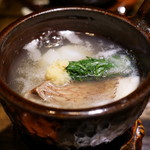 御料理 光安 - 鯛と蕪の小鍋仕立て